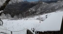 Esenli Köyüne Beklenen Kar Geldi