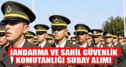 Jandarma ve Sahil Güvenlik Komutanlığı Subay Alım İlanı