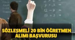 20 Bin Sözleşmeli Öğretmen Alınacak