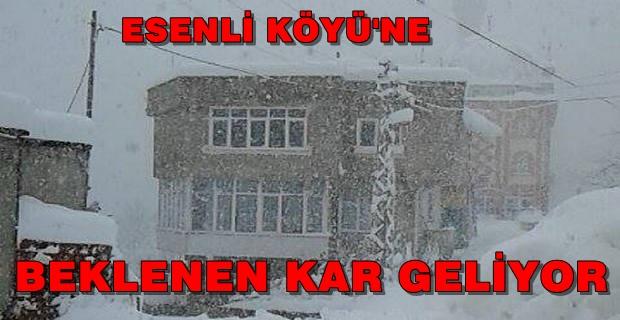 Esenli Köyüne ve Zıva Vadisine Kar Geliyor